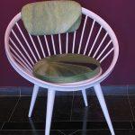 houten retro stoel met foto print