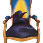 funky chairs stoel blue flame voor